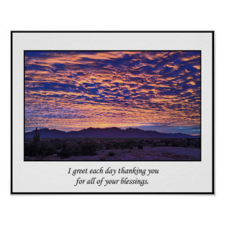 Sunrise: Inspirational Wall Poster