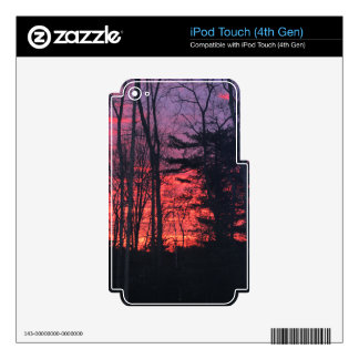 Sunrise iPod Touch 4G Decals