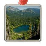 Sunrise Lake from Above at Mount Rainier Park Metal Ornament