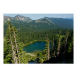 Sunrise Lake from Above at Mount Rainier Park Poster