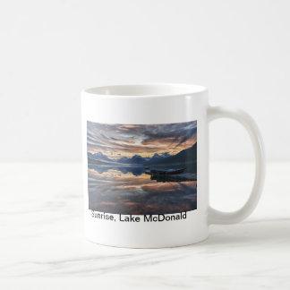 Sunrise, Lake McDonald Classic White Coffee Mug