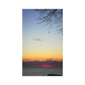 Sunrise Lake Stretched Canvas Print