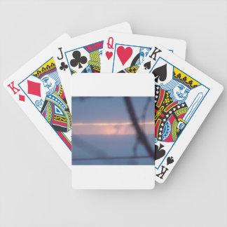 sunrise lake superior bicycle playing cards