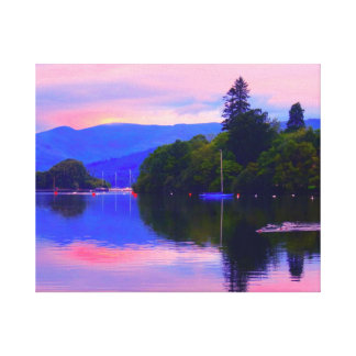 SUNRISE LAKE WINDERMERE THE LAKE DISTRICT UK GALLERY WRAPPED CANVAS