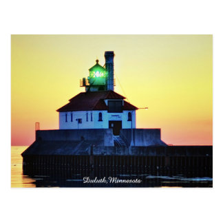 Sunrise Lighthouse Duluth,Minnesota Postcard