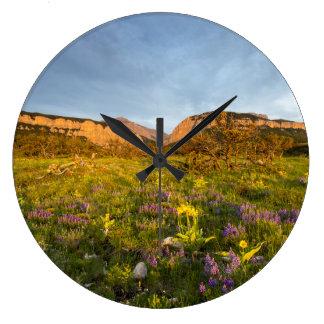 Sunrise Lights Blackleaf Canyon Large Clock