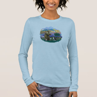 Sunrise Lilies - Black Portie #5bw Long Sleeve T-Shirt