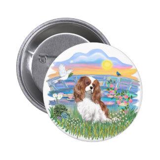 Sunrise Lilies - Blenheim Cavalier Pinback Button