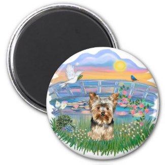 Sunrise Lilies Yorkshire Terrier Magnet