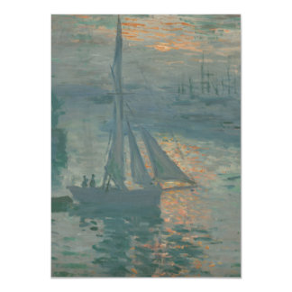 Sunrise (Marine) by Claude Monet Custom Invite