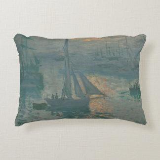 Sunrise (Marine) by Claude Monet Accent Pillow