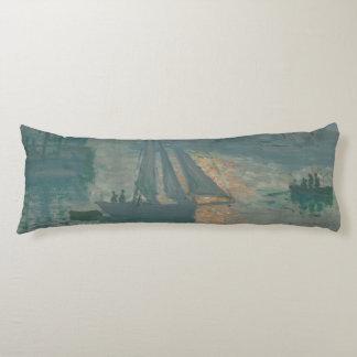 Sunrise (Marine) by Claude Monet Body Pillow