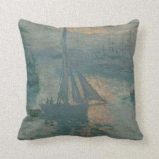 Sunrise (Marine) by Claude Monet Throw Pillows
