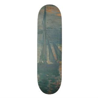 Sunrise (Marine) by Claude Monet Skateboard