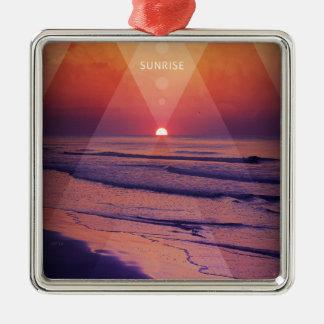 Sunrise Metal Ornament