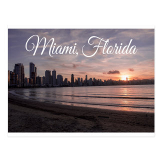 Sunrise Miami Skyline, Florida - USA Postcard