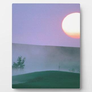Sunrise Misty North Dakota Photo Plaques