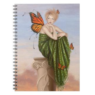 Sunrise Monarch Butterfly Fairy Notebook