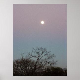 sunrise moon poster