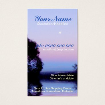 Sunrise Morning Moon Business Card