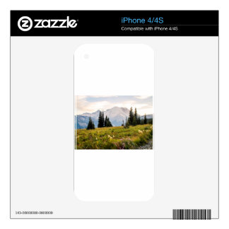Sunrise Mt. Rainier Gifts iPhone 4 Decal