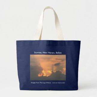 Sunrise, New Haven, Belize Large Tote Bag