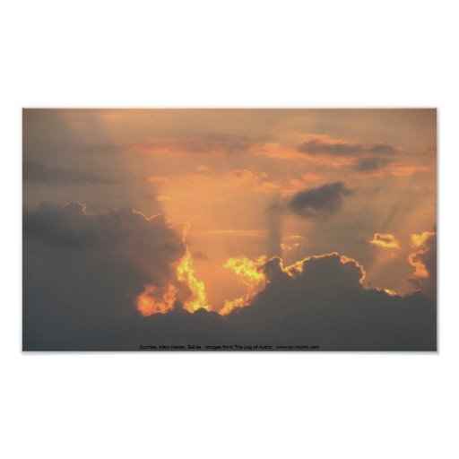 Sunrise, New Haven, Belize Print