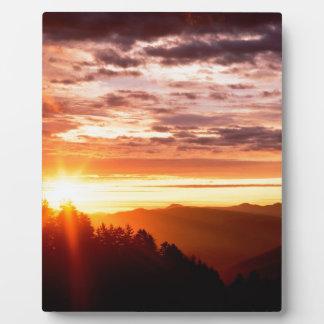 Sunrise Newfound Gap Photo Plaque