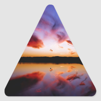 Sunrise Northern Tranquility Triangle Sticker