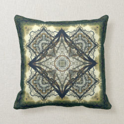 Sunrise Oak Kaleidoscope Design No.1 Throw Pillow