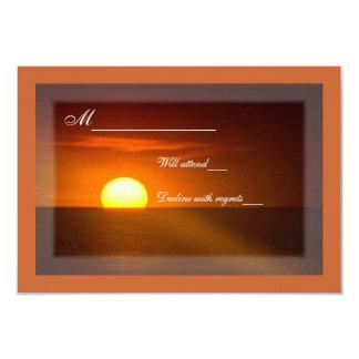 "Sunrise Ocean RSVP card 3.5"" X 5"" Invitation Card"