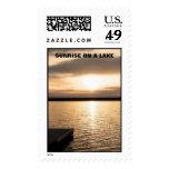 Sunrise On A Lake Postage