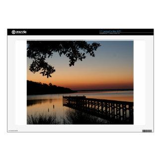 Sunrise on Bogue Sound Skins For Laptops