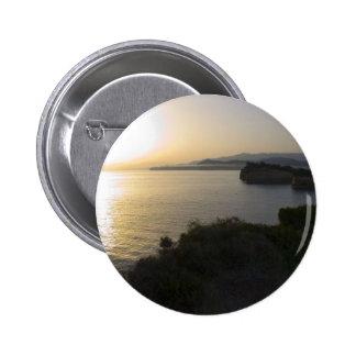 Sunrise On Corfu Island In Greece 3 Button