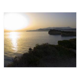 Sunrise On Corfu Island In Greece 3 Postcard