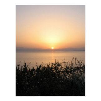 Sunrise On Corfu Island In Greece 4 Postcard