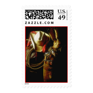 SUNRISE ON COWBOY WESTERN LEATHER GEAR STAMPS
