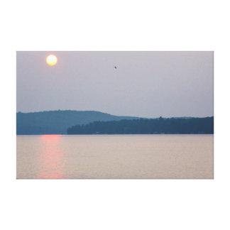 Sunrise on Elk Lake, Michigan Canvas Print