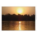 Sunrise on Ganges Greeting Card
