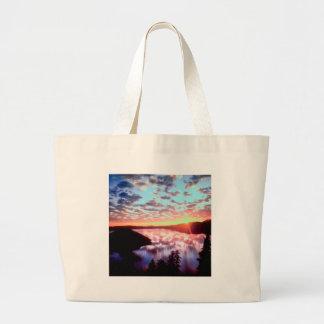 Sunrise On Island Crater Oregon Bags