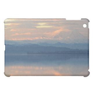 sunrise on lake washington and Mt Rainier iPad Mini Cases