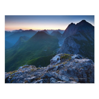 Sunrise on mt. falschkogel, in the lechtaler 6 postcard