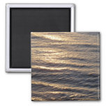 Sunrise on Ocean Waters Blue Abstract Photography 2 Inch Square Magnet