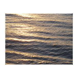 Sunrise on Ocean Waters Blue Abstract Photography Canvas Print
