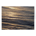 Sunrise on Ocean Waters Blue Abstract Photography Card