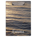 Sunrise on Ocean Waters Blue Abstract Photography Clipboard