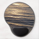 Sunrise on Ocean Waters Blue Abstract Photography Gel Mouse Pad