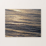 Sunrise on Ocean Waters Blue Abstract Photography Jigsaw Puzzle