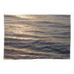 Sunrise on Ocean Waters Blue Abstract Photography Kitchen Towel