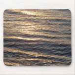 Sunrise on Ocean Waters Blue Abstract Photography Mouse Pad